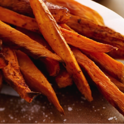 Cinnamon-Pear Balsamic & Butter Olive Oil Roasted Sweet Potatoes