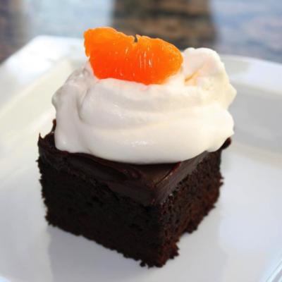 Dark Chocolate-Blood Orange Olive Oil Cake with Blood Orange Ganache