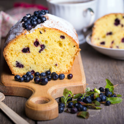 Whole Grain Lemon-Blueberry Tea Cake