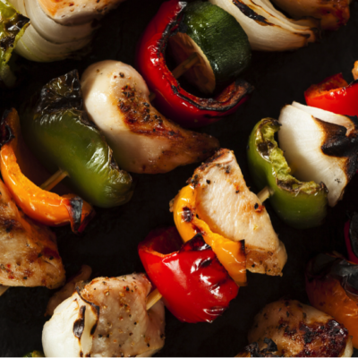 Basil Ginger Chicken Shish Kebabs
