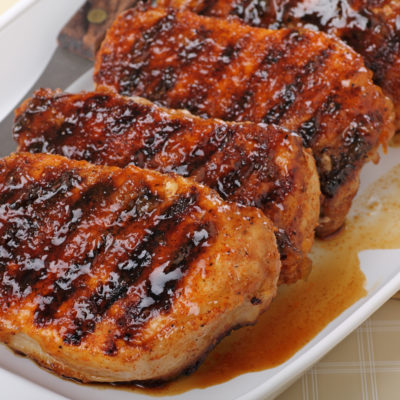 Black Currant and Rosemary-Marinated Pork Chops