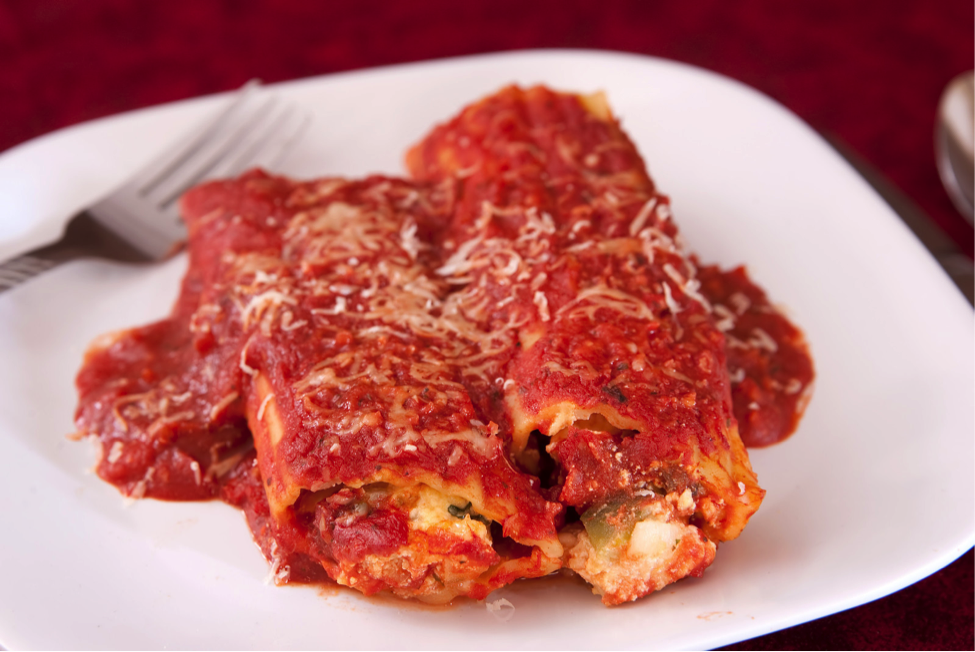 Cheese and Salmon Manicotti