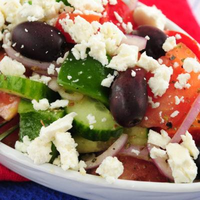 Chopped Greek Salad with Oregano White Balsamic