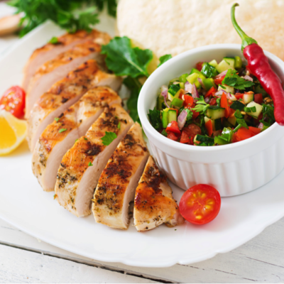 Ginger Lime Chicken with Salsa