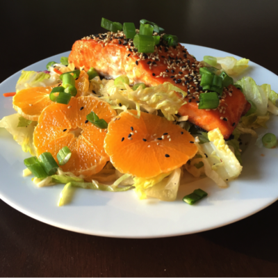 Honey Ginger or Honey Pepper Salmon Salad