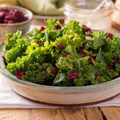 Kale Salad With Black Currant Balsamic