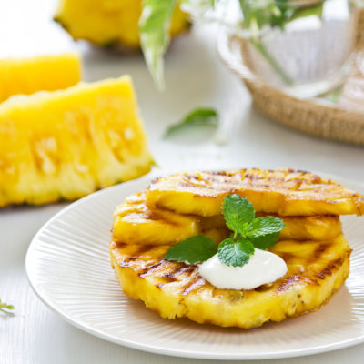 Lemongrass Mint Grilled Pineapple