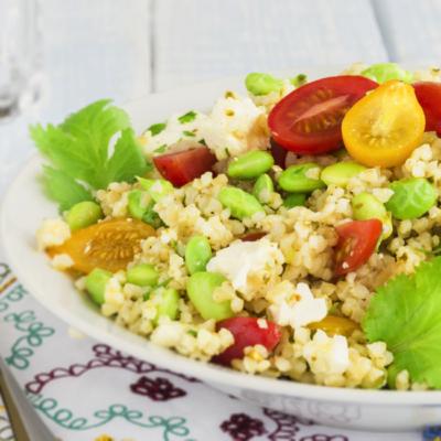 Mediterranean Salad with Oregano Dill Vinaigrette