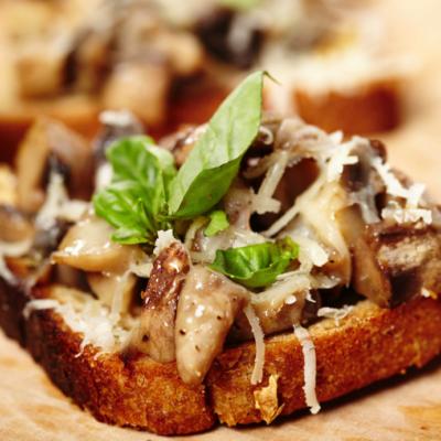 Mushroom Crostinis