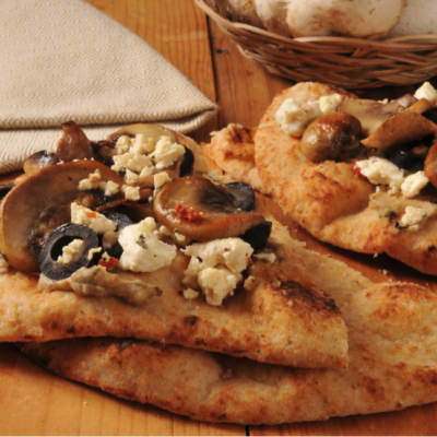 Mushroom and Blue Cheese Flatbread
