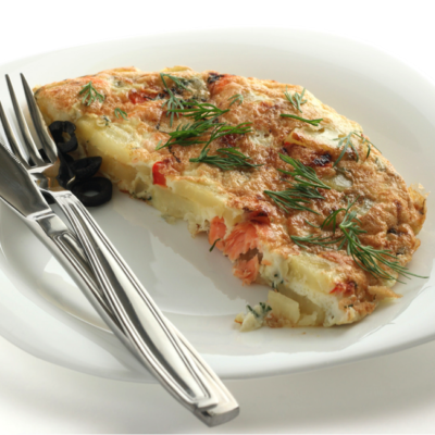 Potato Frittata with Smoked Salmon