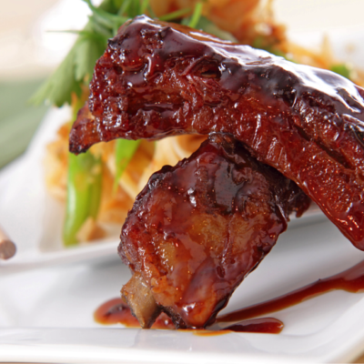 Sesame Honey Ginger Glazed Ribs