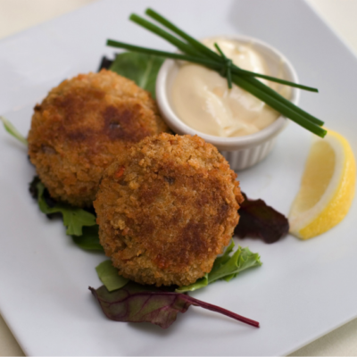 Shrimp Cakes with Cilantro Aioli