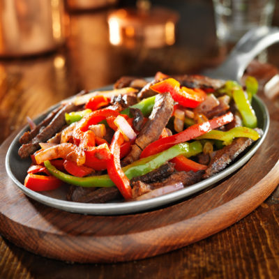Steak Fajitas with Honey Pepper White Balsamic