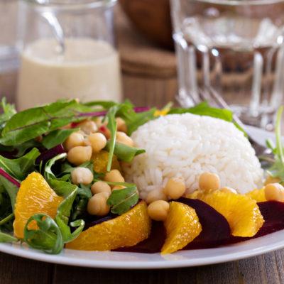 Cherry Arugula with Wild Rice