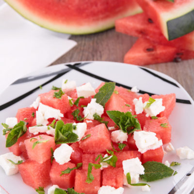 Citrus Mint White Balsamic Watermelon Salad
