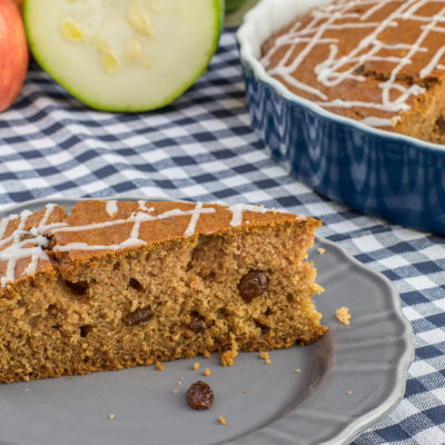 Zucchini Gingerbread with Roasted Almond Oil