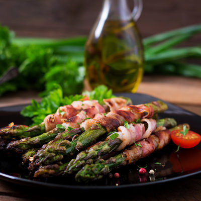 Asparagus with Fig and Goat Cheese