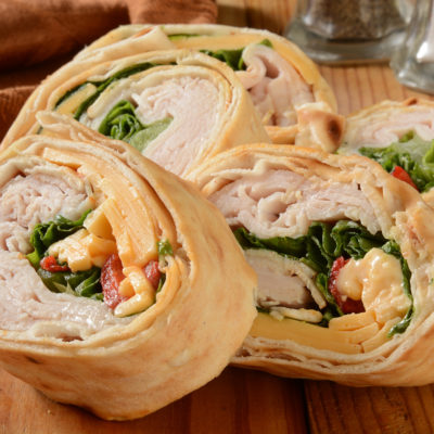 Chicken with Mango and Cream Cheese Pinwheels