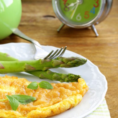 Spring Omelet with Asparagus and Garlic
