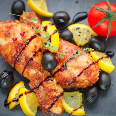 Apricot Balsamic Chicken Dinner