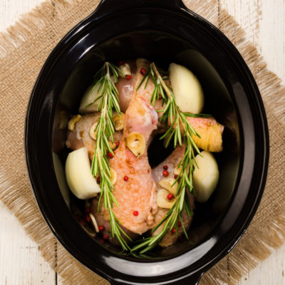 Garlic Rosemary Slow Cooker Chicken